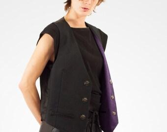Unisex reversible sleeveless waistcoat