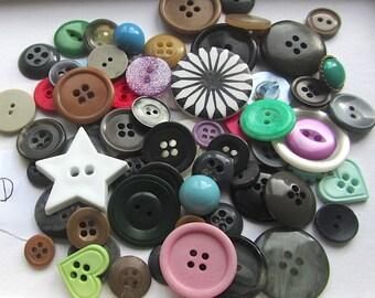 Destash Buttons Random Mixture Bargain Bag D