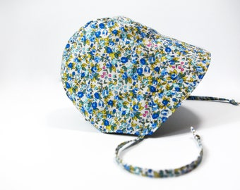 Baby Sunbonnet | Floral Baby Hat | Floral Girl Hat | Baby Sunhat | Summer Baby Hat | Baby Girl Bonnet | Cotton Sunbonnet | Floral Sunbonnet