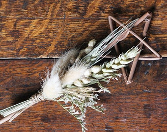 Flower Girl Wand - Vintage Pastel - Dried Flowers