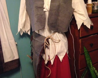 LOST Boys Outfit Peter Pan Adult Size Small to Xlarge