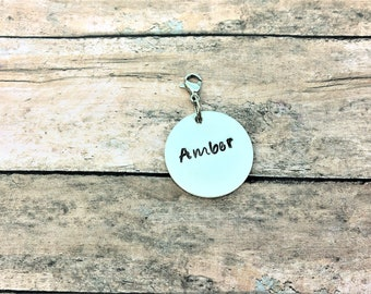 Personalized Silver Charm - Custom Charm - Personalized Charm - Bracelet Charm - Custom Tag - Custom Name Tag - Custom Bracelet Charm