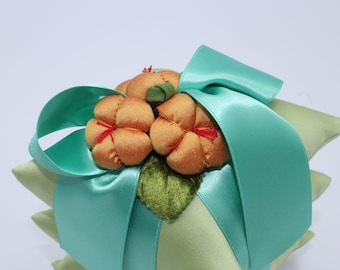 Irene Hirose Triplet Silk Sachet With Satin Ribbon & Handmade Flowers