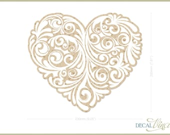Lace Heart Fabric Wall Decal