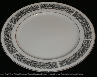 Diamond Craft, Elegance, 12 inch round chop platter