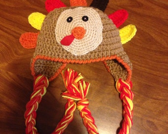 Crochet turkey hat Thanksgiving/ gift/ baby hat/ baby shower gift free shipping