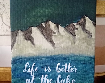 Mountain Landscape (15 x 21 cm) with Personalised Quote