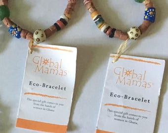 Global Mamas. 100% Handmade Recycled Glass Eco Bracelets.