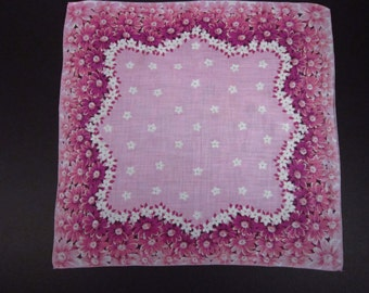 Vintage Handkerchief Lavender Floral (vh127)