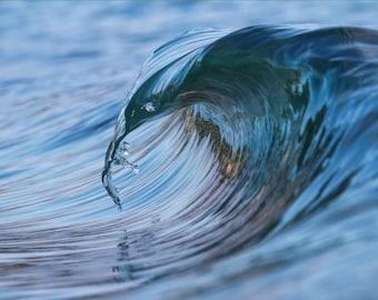 San Diego Curling Wave - 12x18 16x24 20x30 24x36 Metal Print - Surf Photography - Water Photography - Modern Art - Wall Art