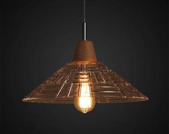 Kitchen Glass Pendant - glass lamp - ceiling lamp - mounted lamp - E27 - edison bulb - industrial style - hanging lamp - Edison bulb lamp