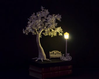 I Will Wait - Book Paper Sculpture - Paper Art - MADE TO ORDER