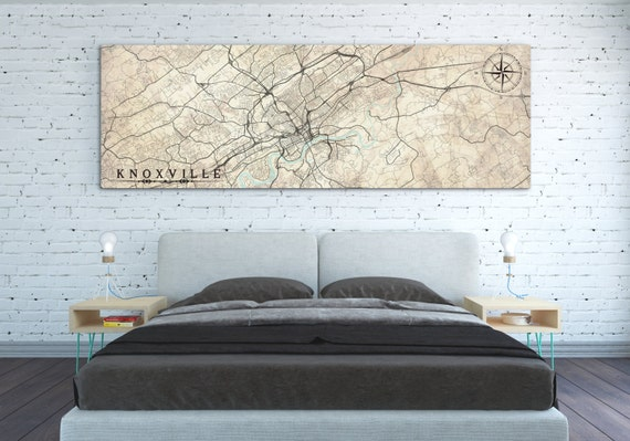KNOXVILLE TN Canvas Print Tennessee TN Vintage map Knoxville