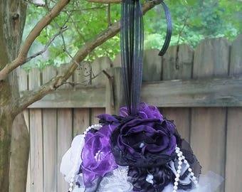 Wedding Bouquet, Custom Bridesmaids Bouquet, Alternative Flower Bouquet, Vintage inspired Wedding Decoration, Fabric Flower Decoration
