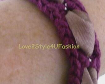 Woven Bracelets, Kabbalah Bracelet, Kabbalah Bracelets, Chain Link Bracelet, Bohemian Bracelet, Bracelet Burgundy, Bracelet Women