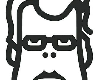 Stephen King vinyl sticker