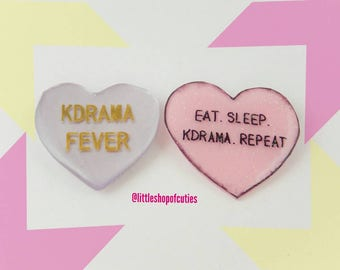 Kdrama fever/ korean drama fever badge / pin / brooch (MADE TO ORDER)