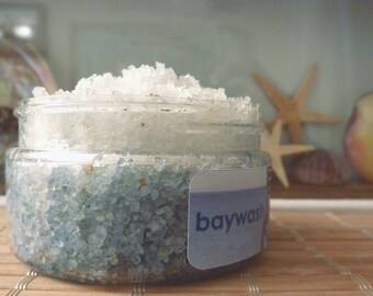 Baywash - sea salt scrub beach scent natural 10oz bath salts
