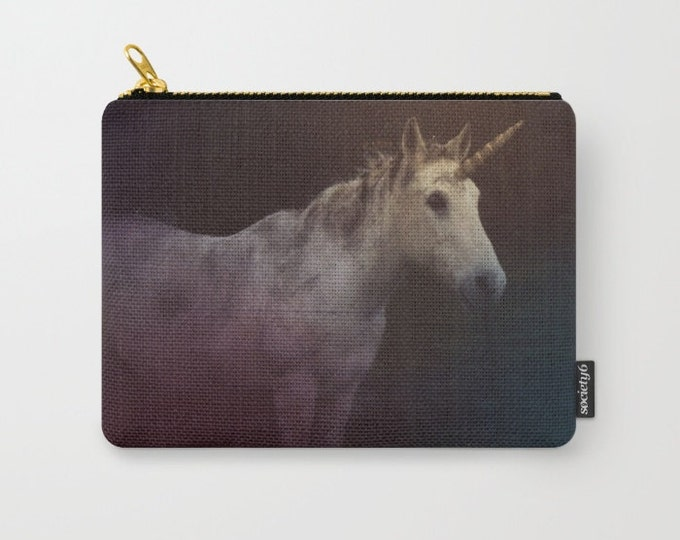 Unicorn Fantasy Art Make-up Bag-Original Photograph- Pouch-Carry All Pouch- Toiletry Bag - Change Purse - Organizing Bag - Made to Order