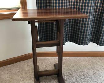 Hardwood Folding End Table