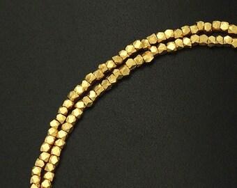 "120 of Karen hill tribe 24k Gold Vermeil Style Faceted Beads 1.6 mm. 8 "" :vm0008"