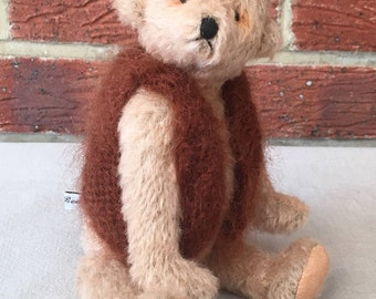 Handmade Artist Teddy Bear Jo Jo by Fran's Bears, 9.5 inches (24cm) OOAK