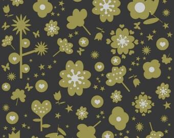 Printed floral motifs create