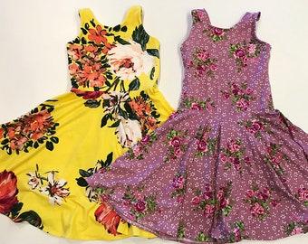 Floral Knit Twirly Dress