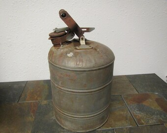 Justrite Safety  kerosene can ,  oil can,  fuel can , gas can .**3 gallon ??  midcentury