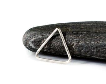 Triangle Septum Ring. 10mm Silver Triangle Hoop. Triangle Nose Ring. Endless Earring. Single Earring. Daith Rook Cartilage Hoop. Men Earring