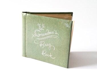 Vintage photo album * brag book for grandmas * gift for grandma * vintage picture album * mini album