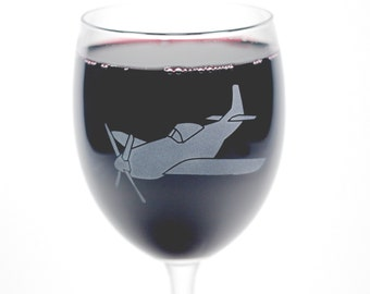 Airplane Wine Glass - 12oz - manly wine glass