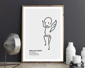 Custom Angel Baby Print - Baby2