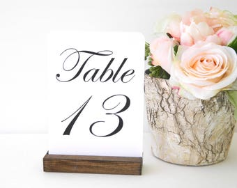 Table Number Holders + Rustic Table Number Holder - (Set of 10)