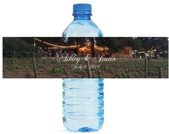 Wedding at the Vineyard Water Bottle Labels Great for Engagement Bridal Shower Party easy to apply and use Dinner Party