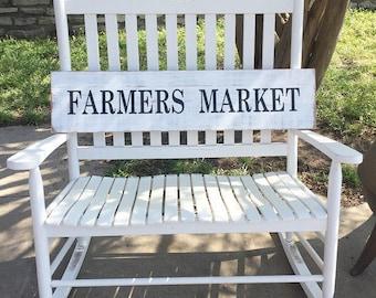 Farmers Market Sign, Farmhouse Rustic Sign, Wall Decor, Fixer Upper Decor, Distressed Sign