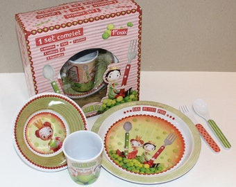 "Set of dishes ""the prince and Princess dots"""