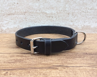 Collar, dog collar leather, leather collar for dogs, custom-made, black