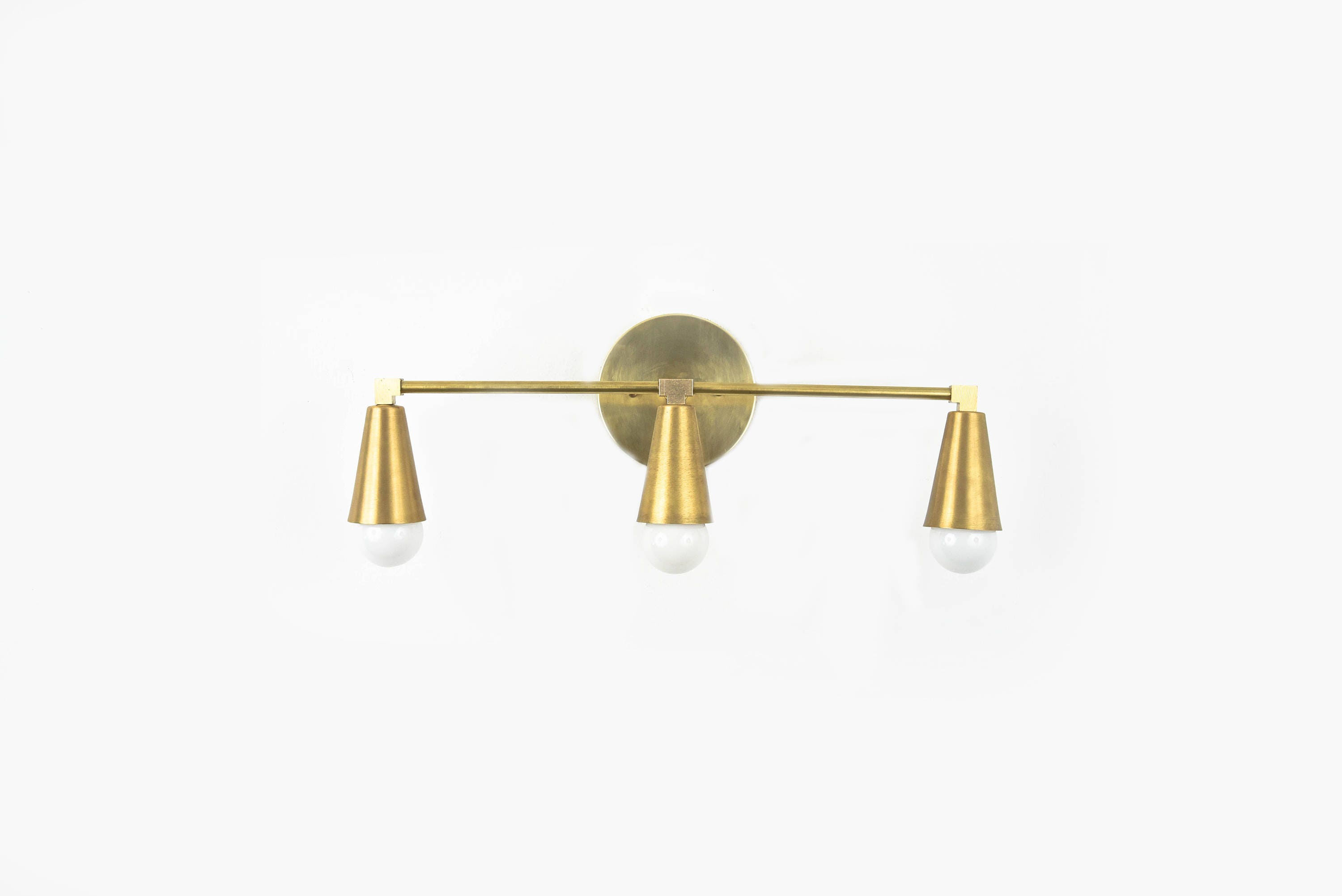 and bulbs white brass sconce pin ceilings cordelia mirrors bathroom