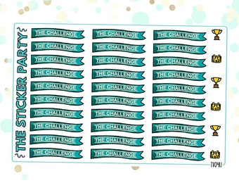 MTV The Challenge Planner Stickers The Challenge TV Show