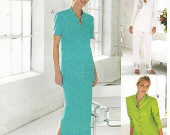 Womens Day Womens Button Front Tunic, Ankle Length Skirt & Pants McCalls Sewing Pattern M4465 Size 10 12 14 16 Bust 32 1/2 to 38 UnCut