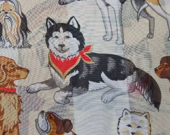 Women's Fashion Dog Design Very Cute Dog Lovers Scarf Women's Fashion Accessories