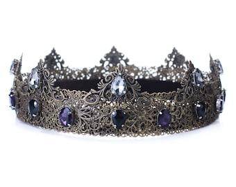 Men medieval crown, mens costume, cosplay, medieval crown, mens accessories, King crown, Prince crown,metal crown, renaissance crown