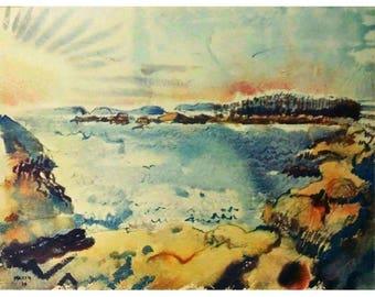 John Marin Sunset 1914 Original Lithograph