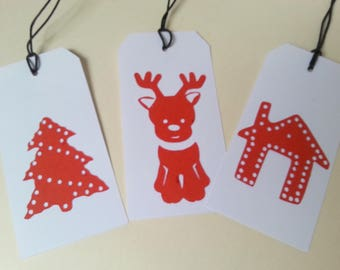 3 gift tags for Christmas gifts