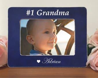 Gift for Grandma, Nana, #1 Grandma Frame, Personalized Picture Frame for Grandmother K5