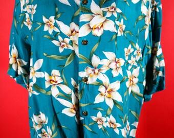 Men's Hawaiian Shirt Made in Hawaii XLarge Hawaiian Reserve Collection
