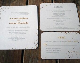 Modern Wedding Invitation Printable,Confetti Wedding Invitation Download,Polka Dot Invitation digital files,DIY Confetti Wedding Invites