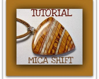 Polymer Clay Tutorial- Mica Shift Pendants tutorial- Beginner Tutorial- Easy Polymer Clay Tutorial- Polymer Clay Jewelry Making