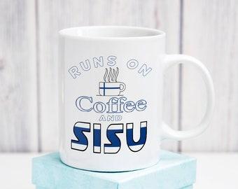 Suomi Coffee and Sisu Mug - Funny Finnish American Kahvi or Coffee Mug